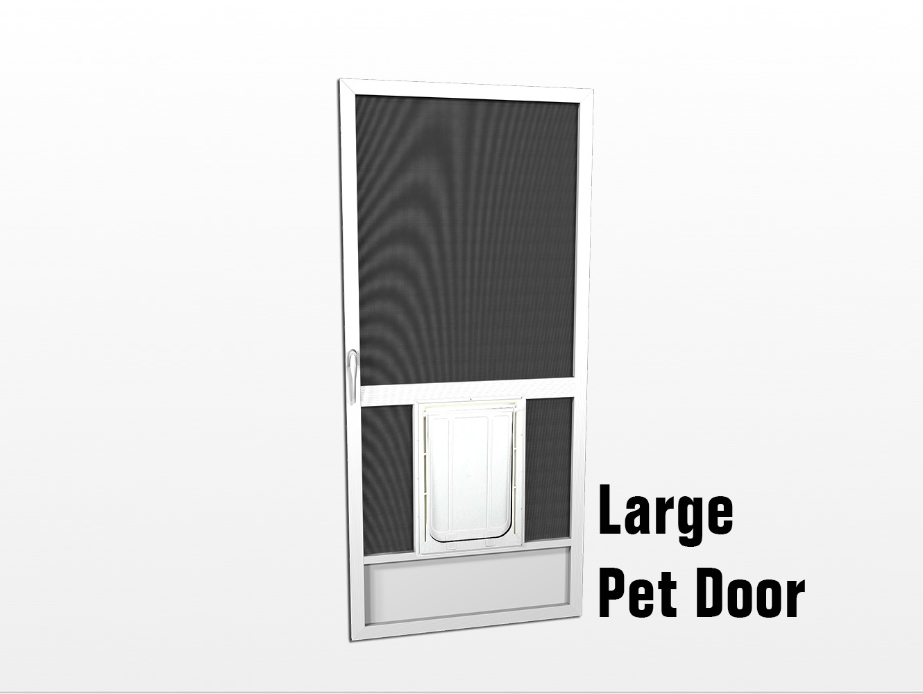 Screen Door With Doggie Door Built In Door Ideas Themiraclez
