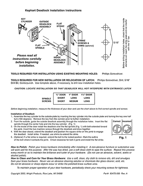 Kephart Deadlock Instructions