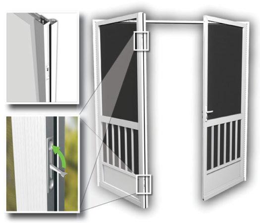 French Screen Doors Entry Double Screen Door Patio PCA Products