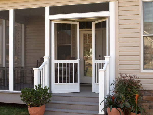 French screen doors entry double screen door patio for Screened front entry