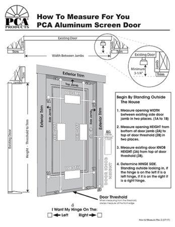 How To Measure For A Screen Door