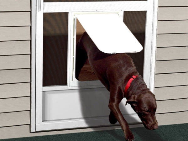 Enjoy the convenience of a PCA screen door for dogs or screen door for cats.