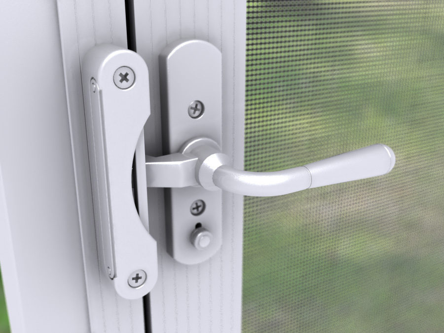 Albright White Screen & Door Lever Handles for In-Swing Screen Doors - Leveru2026 | PCA Products