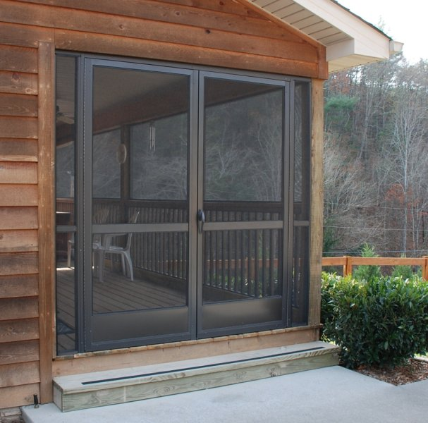 Pca custom french double screen doors for entrances for Double storm doors